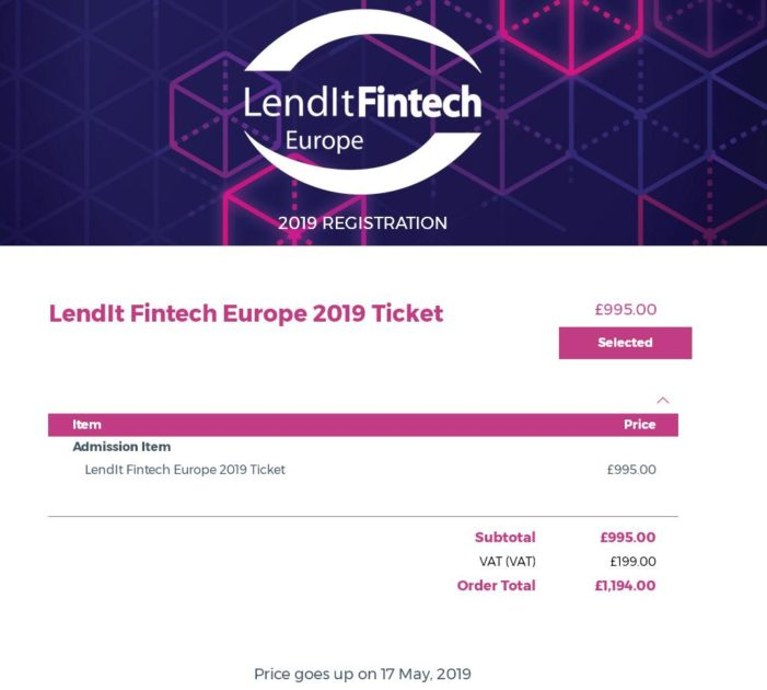 PRECIOS LENDIT EUROPE 2019